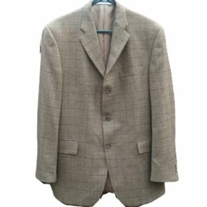 Burberry Men's Brown Checker Coat Blazer